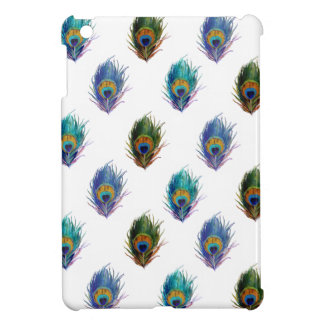 Peacock feather pattern iPad mini cases