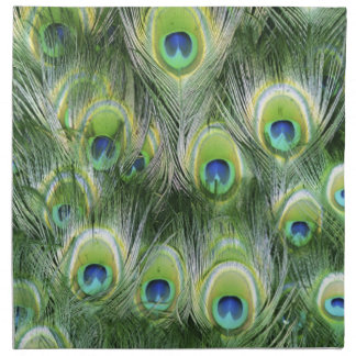 Peacock Feather Pattern Napkin
