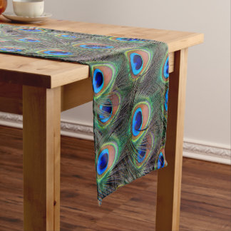 Peacock Feather Pattern Short Table Runner