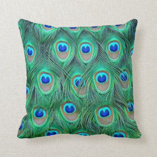Peacock Feather Pillow Throw Cushion