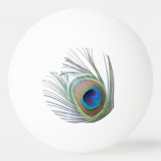 Peacock Feather Ping Pong Ball