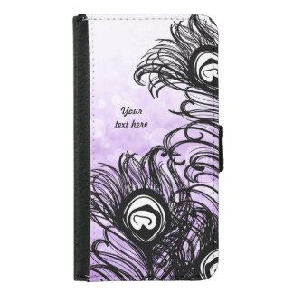 Peacock Feather Purple Bokeh - Galaxy S5 Samsung Galaxy S5 Wallet Case