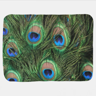 Peacock Feather Receiving Blankets