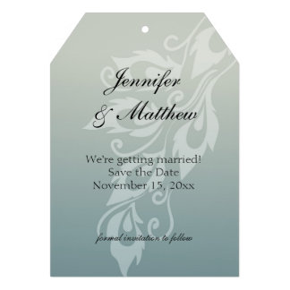 Peacock Feather Save the Date Personalized Invite