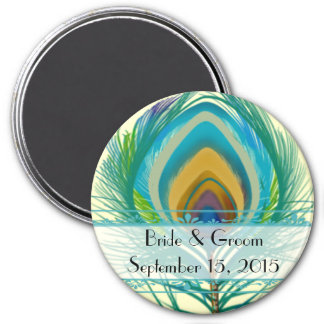 Peacock Feather Save the Date Magnet