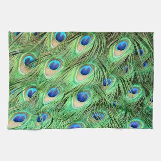 Peacock Feather Tea Towel