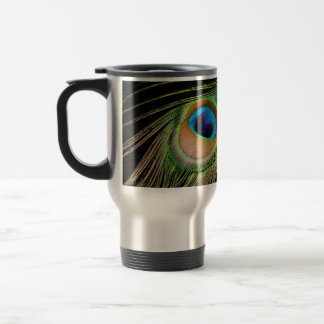 Peacock Feather Travel Mug
