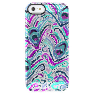 Peacock Feather Watercolor Boho Tribal Clear iPhone SE/5/5s Case