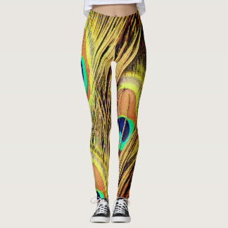 Peacock Feathers 2 Leggings