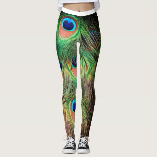 Peacock Feathers 3 Leggings