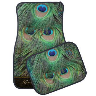 Peacock Feathers 3 Options Floor Mat