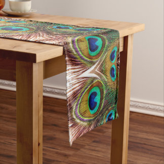 Peacock Feathers 4 Long Table Runner