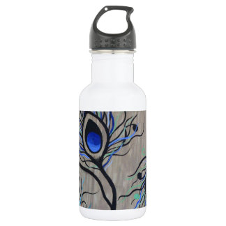 Peacock Feathers 532 Ml Water Bottle