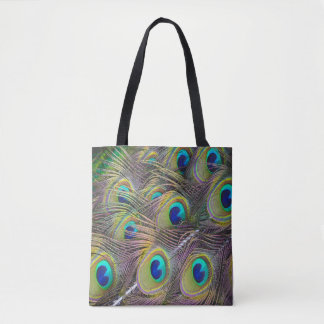 Peacock feathers beautiful tote shopping bag