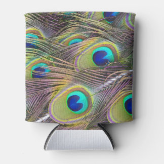 Peacock Feathers Can Cooler