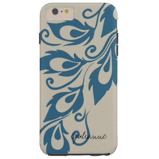 Peacock Feathers Tough iPhone 6 Plus Case