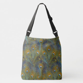 Peacock Feathers Coordinates Crossbody Bag