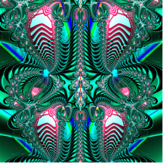 Peacock Feathers Fractal Standing Photo Sculpture