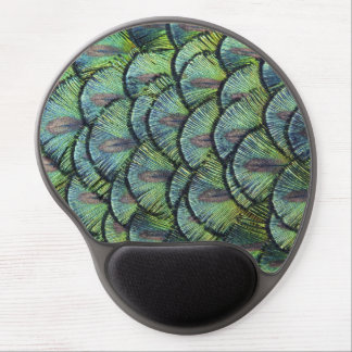 Peacock Feathers Gel Mousemat Gel Mouse Pad