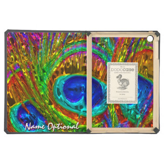 Peacock Feathers Glass Art 1 iPad Air Cover