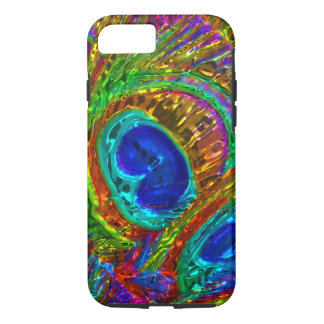 Peacock Feathers Glass Art 1 iPhone 7 Case