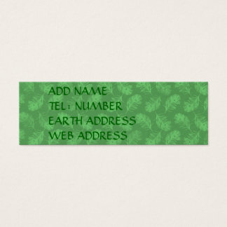 Peacock Feathers Green Mini Business Card