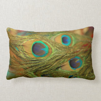 Peacock Feathers Home Decor Throw Pillow