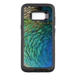 Peacock Feathers I Colorful Abstract Nature Design OtterBox Defender Samsung Galaxy S8+ Case