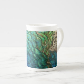 Peacock Feathers I Colorful Abstract Nature Design Tea Cup