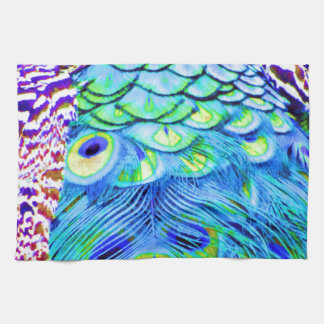 Peacock Feathers Multi Colors Kitchen Towel