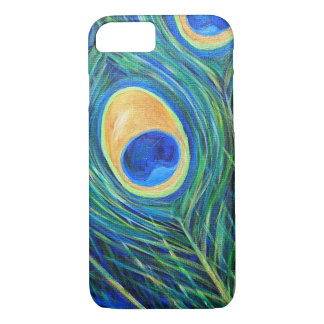 Peacock Feathers Painting iPhone 8/7 Case