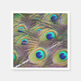 Peacock Feathers Paper Serviettes