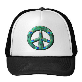 Peacock Feathers Peace Sign Hats