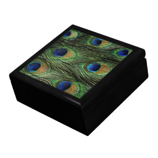 Peacock Feathers Print Jewerly Box