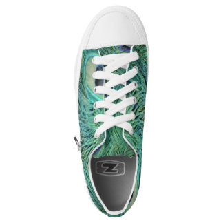 Peacock Feathers Printed Shoes
