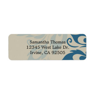 Peacock Feathers Return Address Label