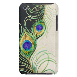 Peacock Feathers Royal Damask Personalized Names iPod Touch Cases