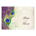 Peacock Feathers RSVP Response Cards Custom Invites
