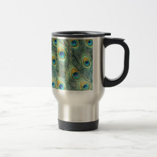 PEACOCK FEATHERS TRAVEL MUG