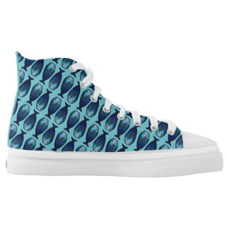 Peacock fish printed shoes