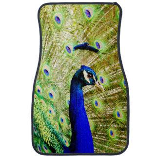 Peacock floor mats