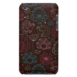 peacock flower india wallpaper vintage iPod touch cover