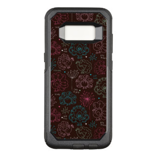 peacock flower india wallpaper vintage OtterBox commuter samsung galaxy s8 case