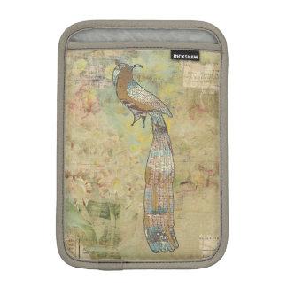 Peacock folk art collage iPad mini sleeves