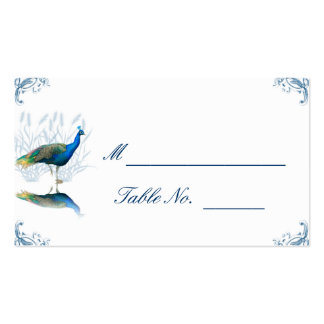 Peacock Garden in Blue and White Place Card Pack Of Standard Business Cards