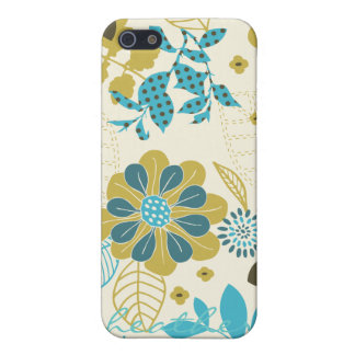 Peacock Garden in Teal and Olive iPhone 5/5S Case