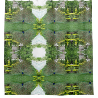 Peacock Garden Photo  Shower Curtain