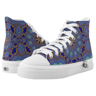 Peacock Geometric High Top Sneakers