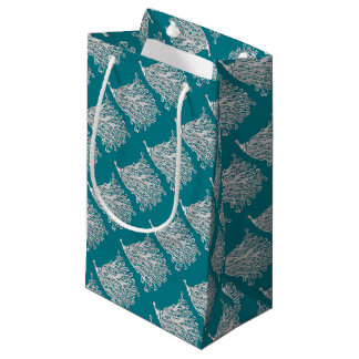 Peacock Gift Wrapping - Green Peacock Gift Options Small Gift Bag