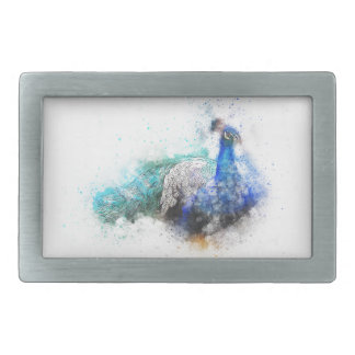 Peacock Gifts Rectangular Belt Buckle